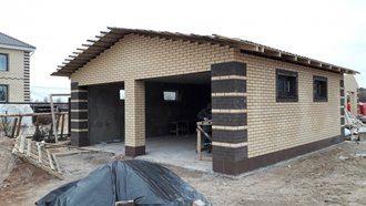 Строительство гаража из кирпича в Санкт-Петербурге