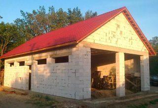 Строительство гаража на 2 машины из газобетона