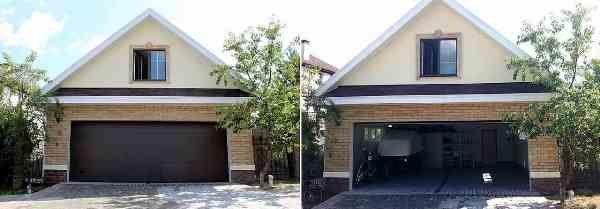 Железная ъ конструкция гаража