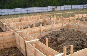 Cтроительство ленточного фундамента в Санкт-Петербурге