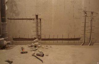 Фото процесса Штробление стен в Санкт-Петербурге
