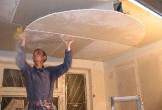 Фото процесса Монтаж потолка из гипсокартона в Санкт-Петербурге