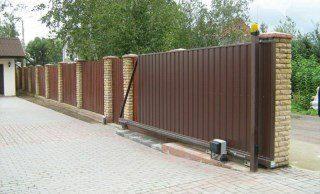 Откатные ворота под ключ в Санкт-Петербурге