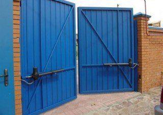 Фото процесса производства Промышленные распашные ворота в Санкт-Петербурге