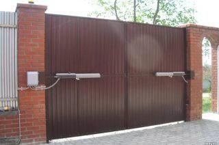 Фото процесса производства Автоматические распашные ворота