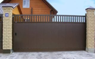 Фото процесса производства Металлические откатные ворота в Санкт-Петербурге
