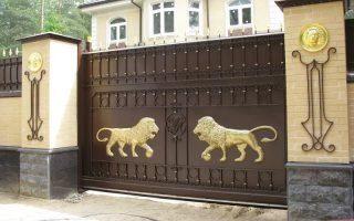 Кованые ворота откатные в Санкт-Петербурге