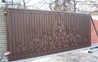 Фото процесса производства Кованые ворота откатные в Санкт-Петербурге